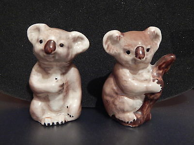 2 x VINTAGE BESWICK KOALA BEARS MODEL NO'S 1039 & 1040 - O.O.P. 1973 - AS FOUND