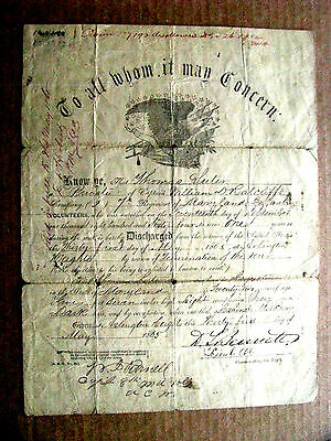 Maryland Civil War Union Infantry Soldier Discharge