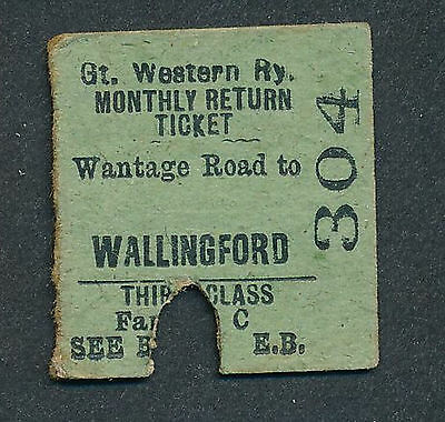 AN1892d GWR 3rd cl Wantage Road - Wallingford