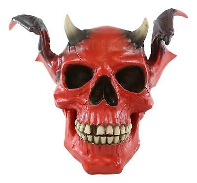 Fire From Hell Red Devil Winged Horn Demon Skull Figurine Labyrinth Spooky Imp