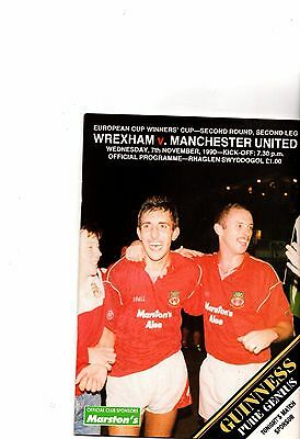1990-1991 Wrexham v Manchester United Cup winners Cup