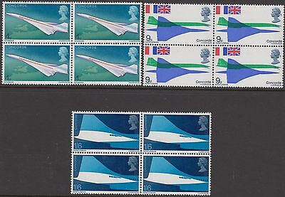 1969  Concorde Sets In Blocks Of 4  Sg 784-786  Unmounted Mint