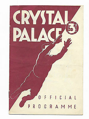 1951/52 Division 3 South - CRYSTAL PALACE v. EXETER CITY