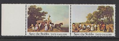 1977  Tate Gallery Save The Stubbs Pair Of Stamps Unmounted Mint