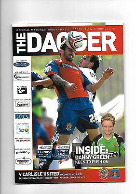 Dagenham & Redbridge  v  Carlisle United, 30th April 2011