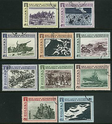 Poland  1968 People's Army Set Sg 1852 - 1861  Fine Used