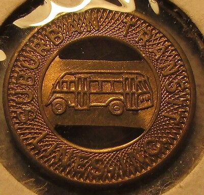 1950 Suburban Transit Lines Inc. Aberdeen, SC Transit Bus Token - South Carolina