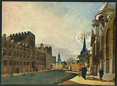 Vintage  Postcard - High Street, Oxford  By  G. Burnand