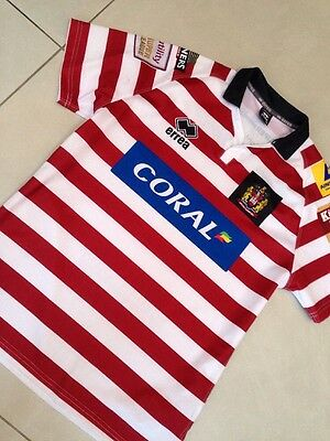 Wigan Warriors Home Rugby Shirt 2015 Jersey Size XL