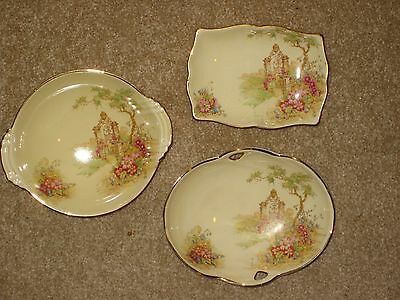 """Royal Winton """"Gateway"""" 3 small dishes"""