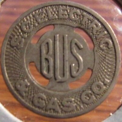 1937 S.C. Electric & Gas Co. Columbia, SC Transit Bus Token - South Carolina