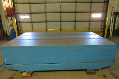 "HERMAN STONE 10'x6'x 20"" Surface Plate Table W/Cradle .0010776"" Accuracy"