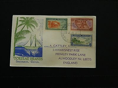 Tokelau Islands  Stamp SG 1/3 set of 3 issued 22-JUN-1948 on illustrated FDC.