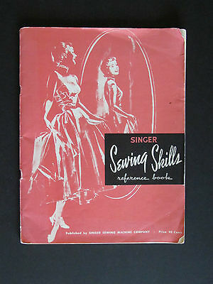 """Old Vtg 1955 SINGER SEWING MACHINE """"SEWING SKILLS REFERENCE BOOK"""""""