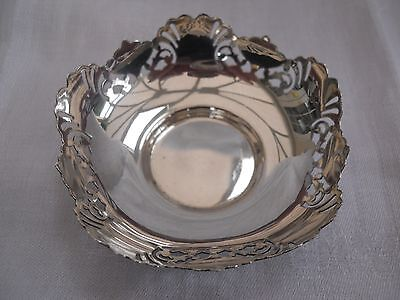 Small Walker & Hall Solid Silver Dish H/m Birmingham 1921