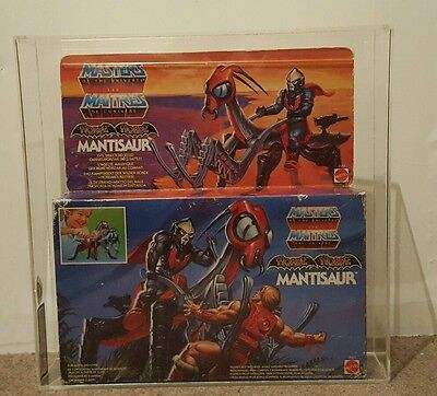 1986 MATTEL MOTU HE-MAN MASTERS OF THE UNIVERSE MANTISAUR MISB BOXED & Graded 70