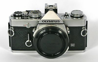 OLYMPUS OM-1 MD 35mm FILM SLR CAMERA BODY ONLY. SERVICED WITH WARRANTY.