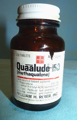 ORIGINAL Quaalude RORER 150 Bottle 100 Tablets Expiration Sept.1975