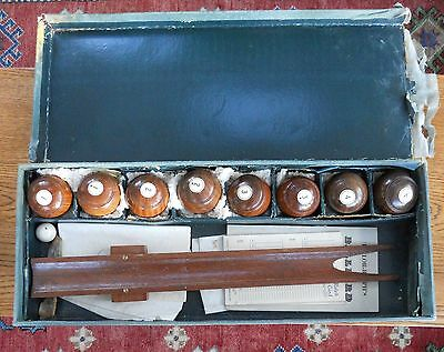 Vintage The Royal Game Of Billiard Bowls Complete Boxed 8 Bowls Etc Table Bowls