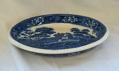 TRADITIONAL Vintage ANTIQUE COPELAND SPODE'S TOWER Blue & White SERVING DISH