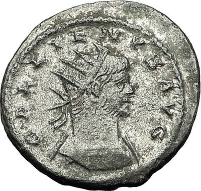 Gallienus  253AD Authentic Genuine Ancient  Roman Coin Fortuna Cornucopia i59255
