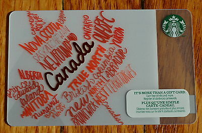 Starbucks 2014 CANADA MAPLE LEAF - Gift Card - New No Value