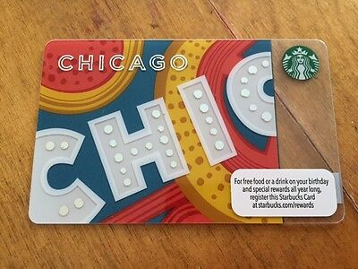 STARBUCKS 2013 CHICAGO THEATRE - Gift Card - New - No Value
