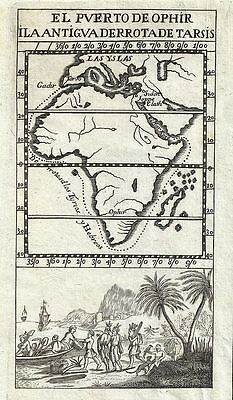1754 Gabriel Ramirez Map of Africa and the Biblical Treasure City of Ophir