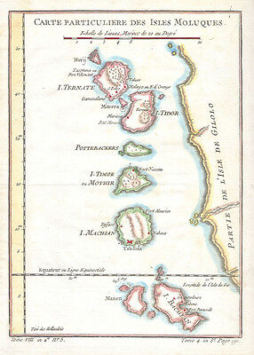 1760 Bellin Map of the Moluques - Moluccas - Moluccan Island