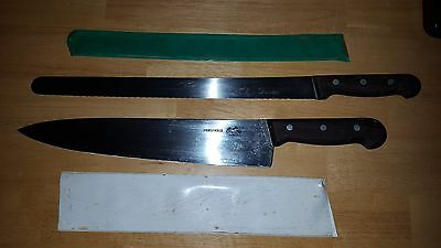 Lot of 2 Forschner chef's knives for kitchen bread knife large blade victorinox