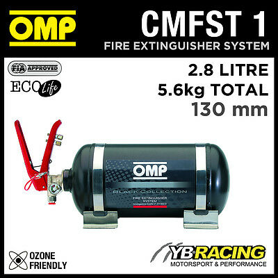 CMFST1 OMP FIRE EXTINGUISHER RACING KIT 2.8L 5.6kgs 330mm NEW BLACK COLLECTION