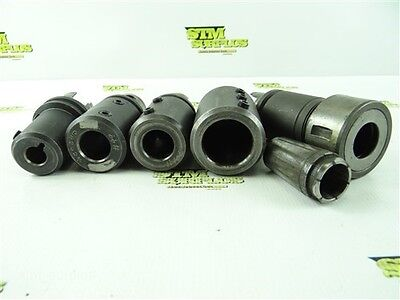 """Kennametal Km50 Shank Tg100 Collet Chuck + 1"""" Collet & 4 Tool Holders"""