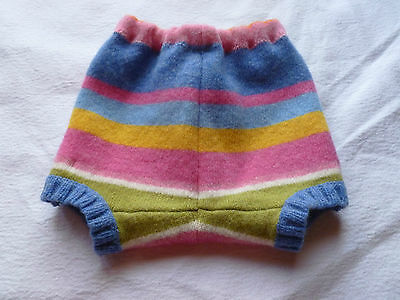 wool shorties shortie *NEW* diaper cover wrap soaker pink stripes striped M