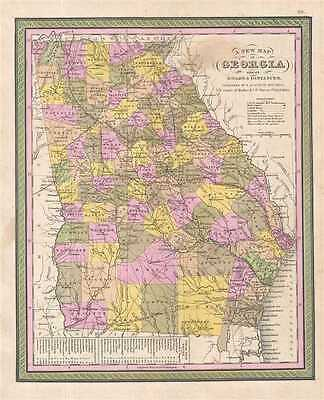 1849 Mitchell Map of Georgia