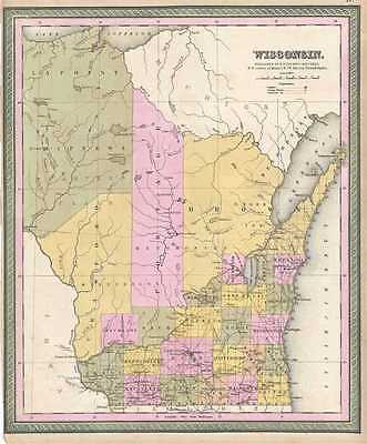 1849 Mitchell Map of Wisconsin