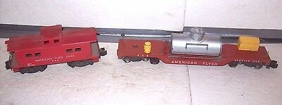 Vintage American Flyer #648 Track Cleaning Car and #806 Caboose