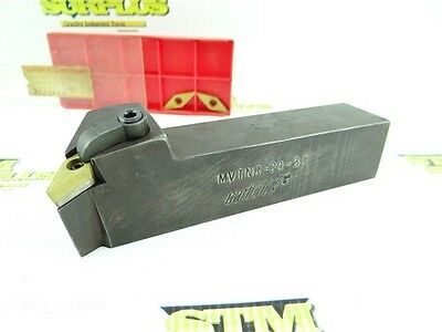 """Carboloy Indexable Tool Holder Mvtnr-20-3D 1-1/4"""" Shank +3 New Inserts"""