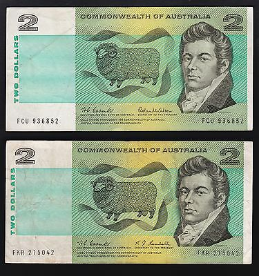 1966 Coombs/Wilson and 1967 Coombs.Randall $2 notes