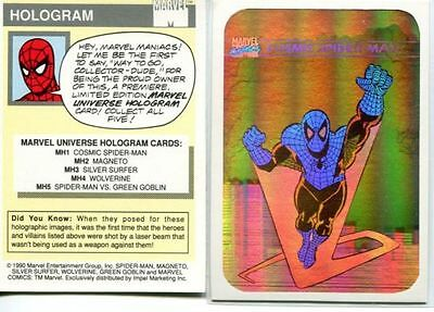 Impel Marvel Universe Hologram Card # Mh1 Cosmic Spider-Man 1990