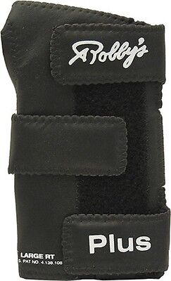 Robby's Plus Leather Wrist Positioner Black Right Hand Medium