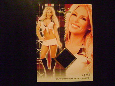 2012 Benchwarmer Hot for Teacher Shay Lyn Veasy SWATCH GOLD Ser# 46/50 PLAYMATE