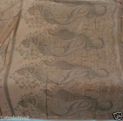 Many Peacock Design Print Vintage Pure Real Silk Women Sari Saree Free Shipping
