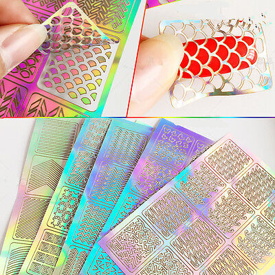 3Sheet 3D Design Manicure Tips Nail Art Transfer Stickers Decal Decoration Tool