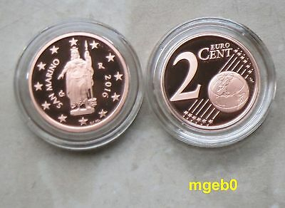SAN MARINO 2016 - 2 Cent aus KMS in PP / Proof