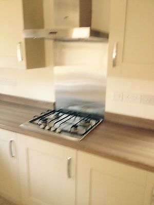 stainless steel splashback 600 x 750