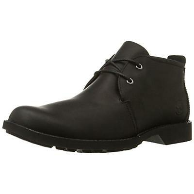 Timberland 7632 Mens City Black Leather Chukka Boots Shoes 10.5 Medium (D) BHFO