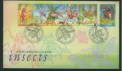 Cocos Islands 1995 Insects First Day Cover  APM28030