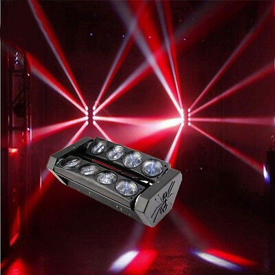 New 8x10W RGBW LED Spider Moving Head Light Stage Lighting DJ Disco 4in1 DMX