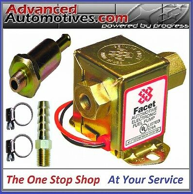 Replacement Facet Cube Fuel Pump & Filter Kit For Low Pressure Carbs 2-4 Psi 12v