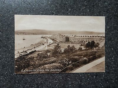 Early Postcard- Exmouth from the Beacon - Devon